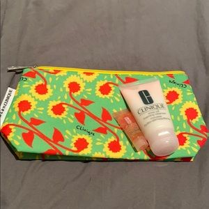 Clinique bag and products